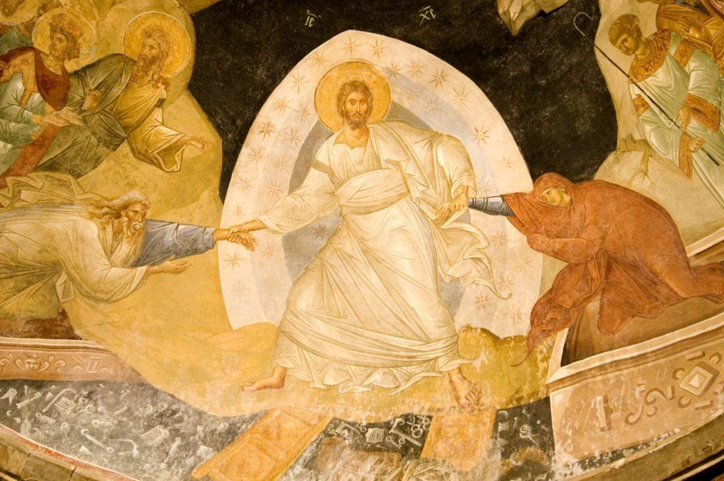 Resurrection fresco istanbul church