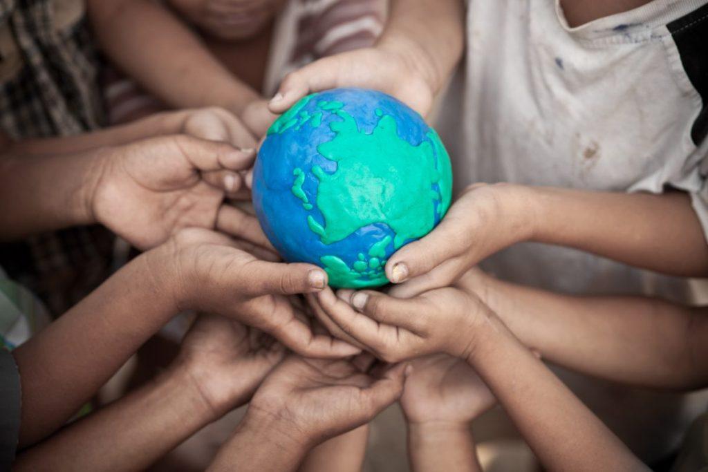 Grabbing the globe