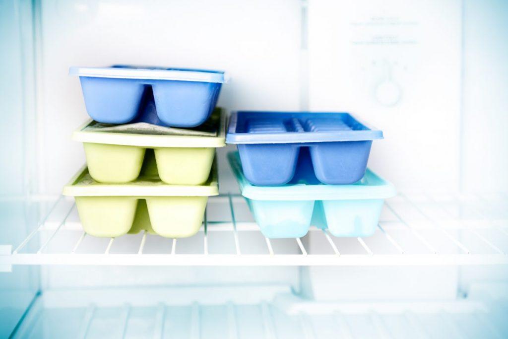 frozen milk ice cubes