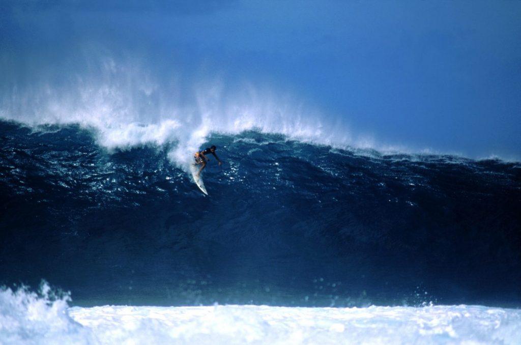 Waimea surfing waves