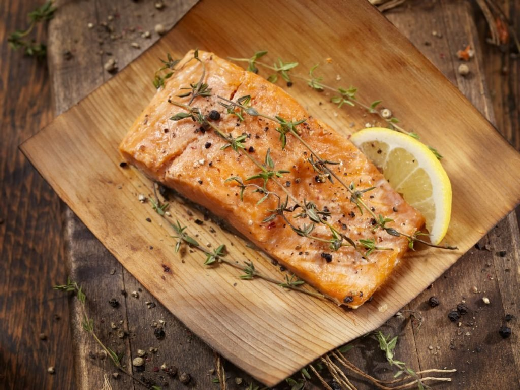 grilled salmon cedar plank
