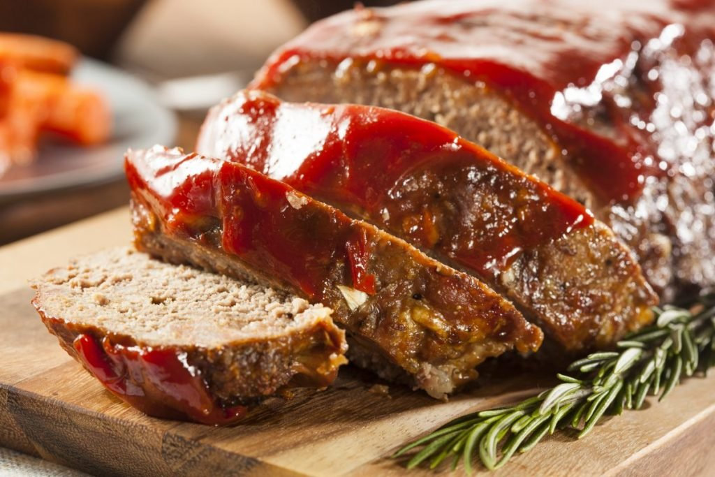 Meatloaf resting