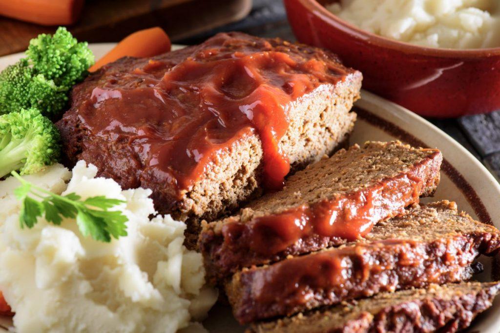 Meatloaf and sides
