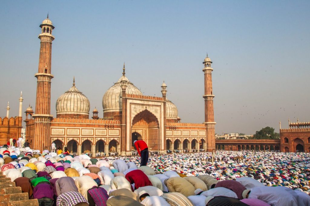 eid prayer new Delhi