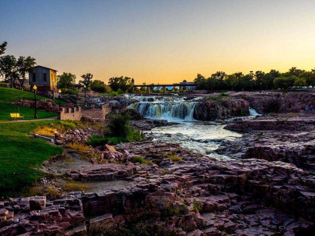 Sioux Falls park sunset