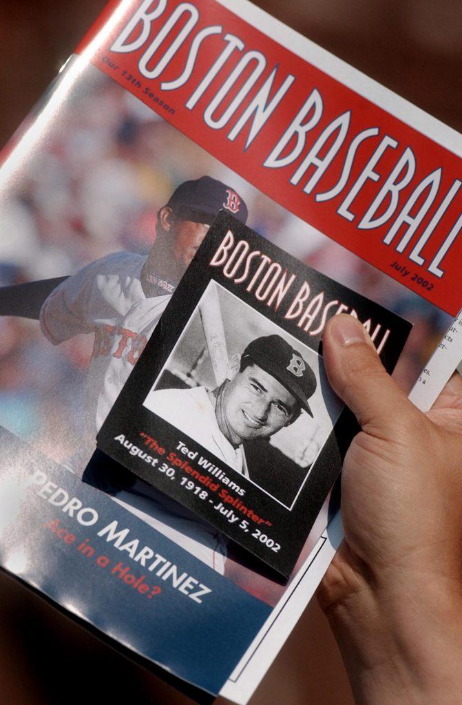 Ted Williams baseball card