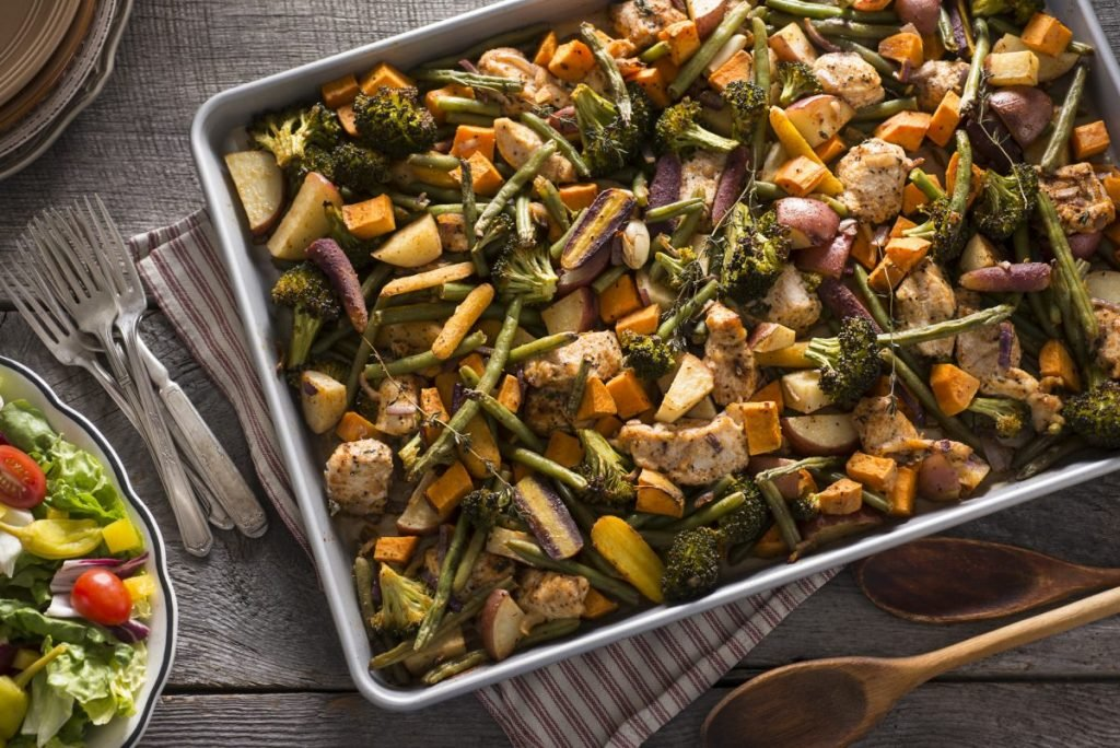 Roasted Chicken Vegetables