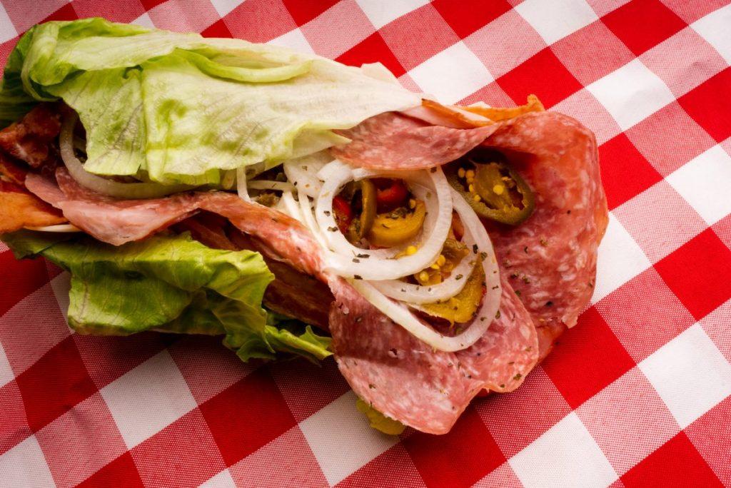 sandwich meat bread