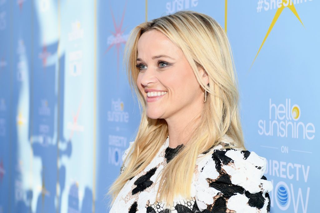 "Reese Witherspoon attends the AT&T and Hello Sunshine launch celebration of ""Shine On With Reese"" and ""Master The Mess"" at NeueHouse Hollywood on August 6, 2018 in Los Angeles,"