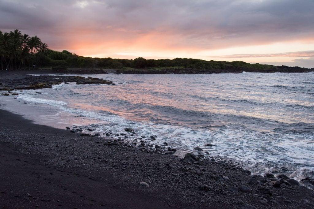 Punalu'u Beach, Hawaii.