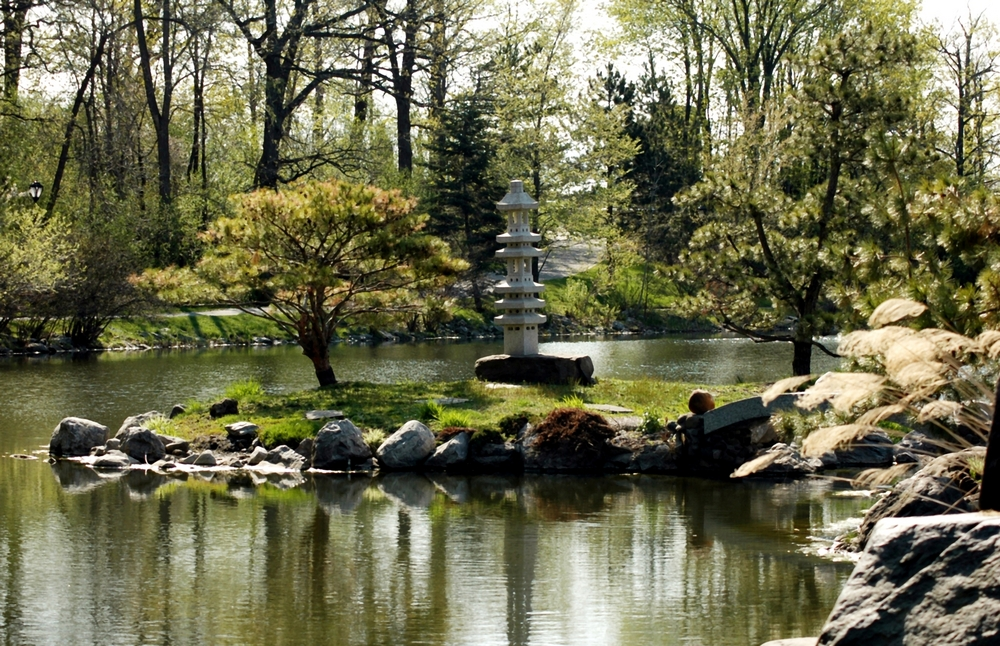 Spring View-Japanese Gardens, Buffalo, New York