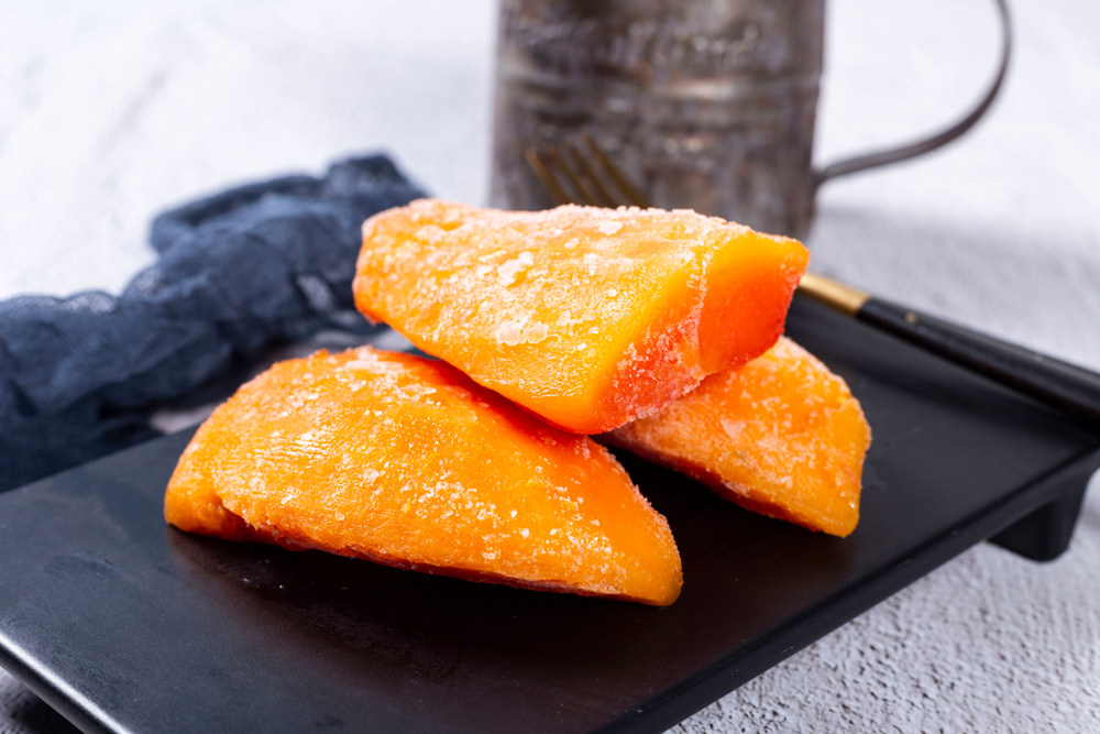 Frozen fruit papaya