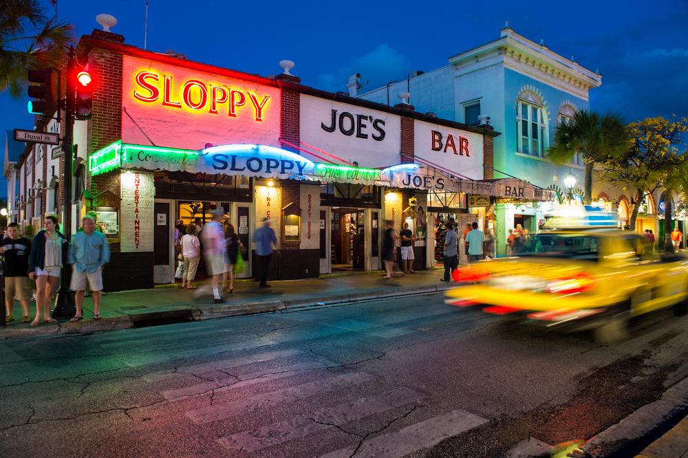 View Slopppy Joe's Bar in Duval Street a landmark in Key West circa 2012.