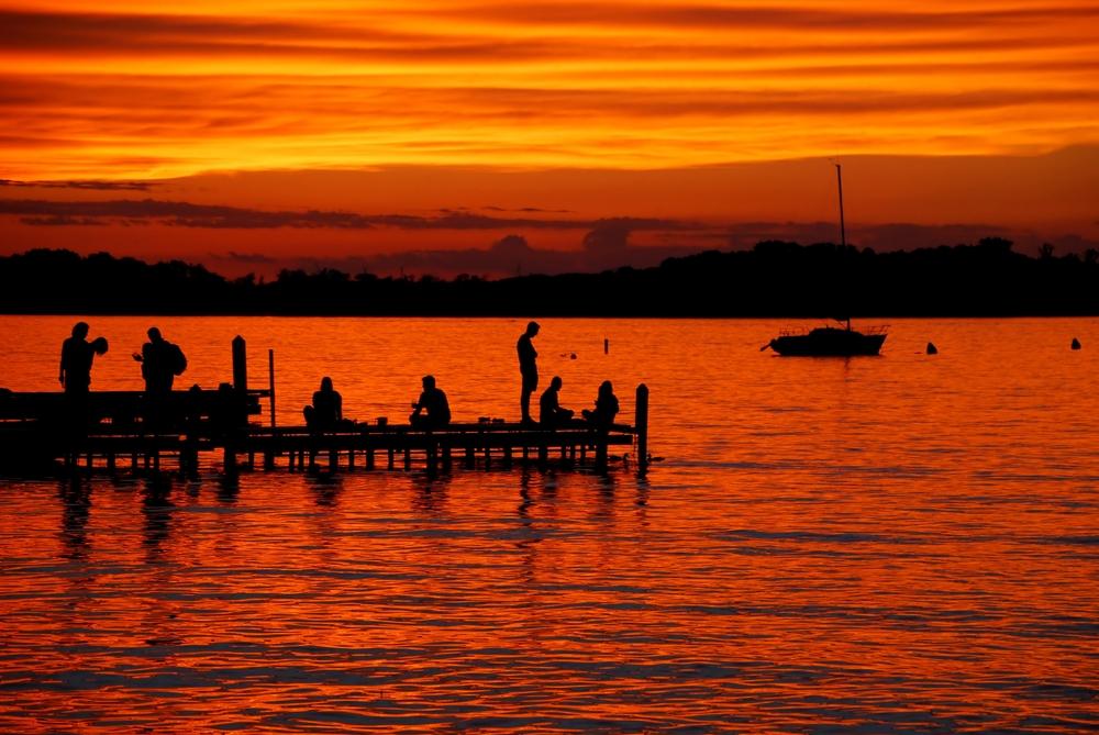 Lake Mendota Sunset from the Memorial Union Terrace on June night