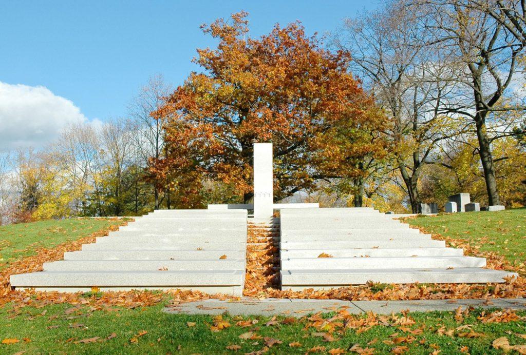 Blue Sky Mausoleum, designed by Frank Lloyd Wright