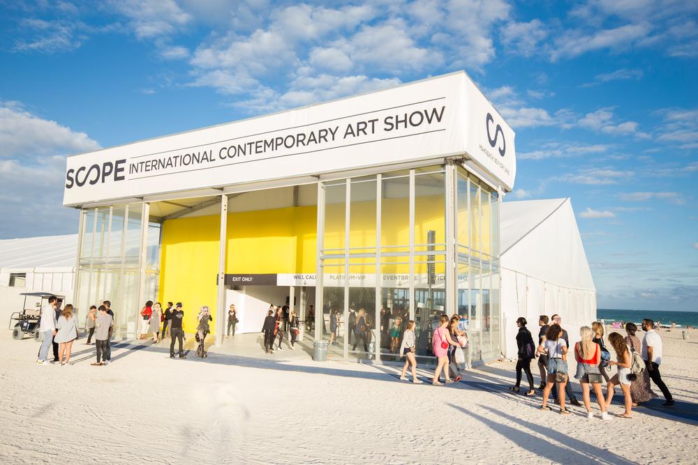 Art Basel week. Biggest art exhibition in the world.