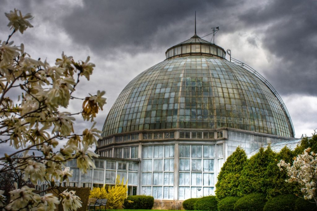Anna Scripps Whitcomb Conservatory on Belle Isle Island Park in Detroit, Michigan