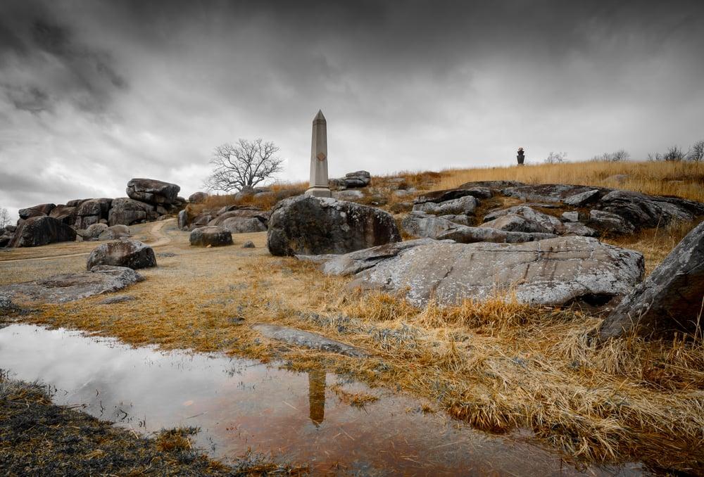 Devil's Den on the Gettysburg Battlefield