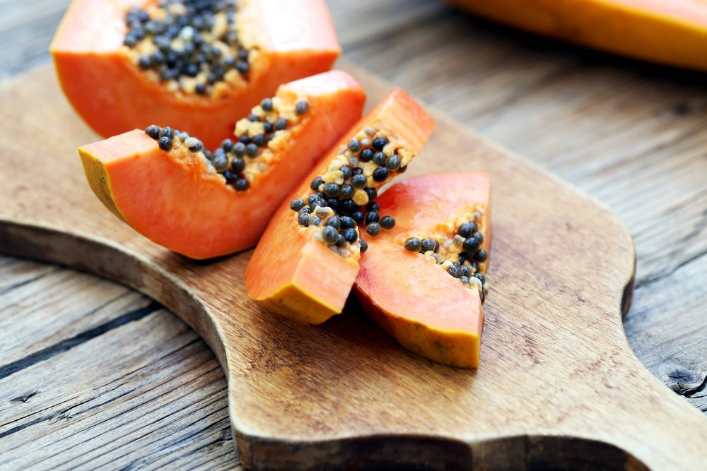 Tropical fresh papaya fruit