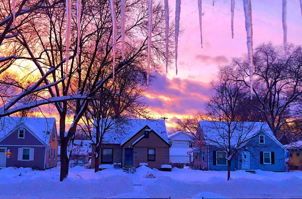 winter wonderland. Minneapolis, Minnesota, US