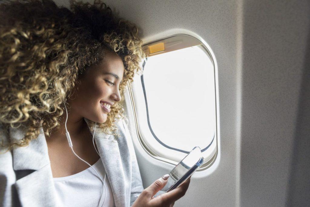 Earbuds in flight