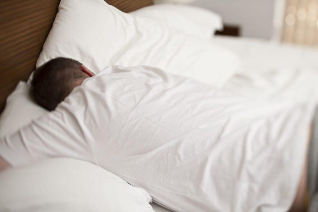 sleeping face down pillow carbon dioxide