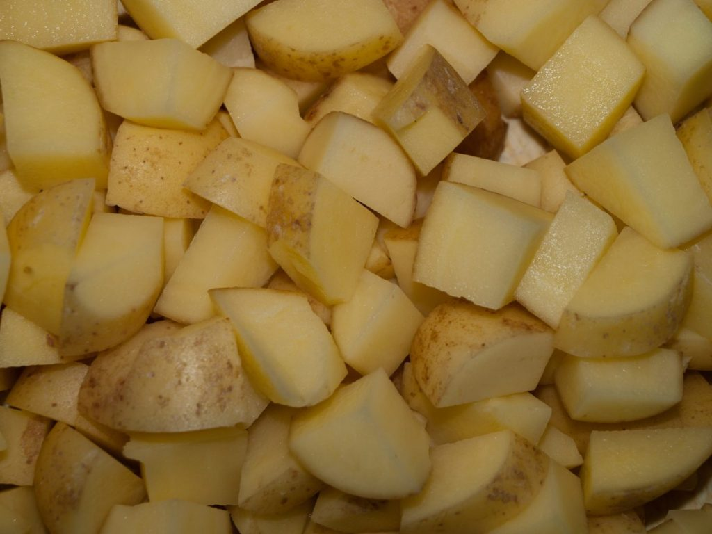 Boiling Diced Potatoes, Shepherd's Pie