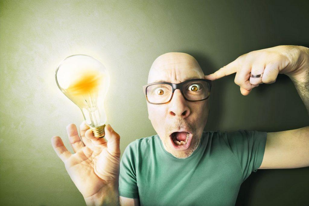 Screwing in lightbulb
