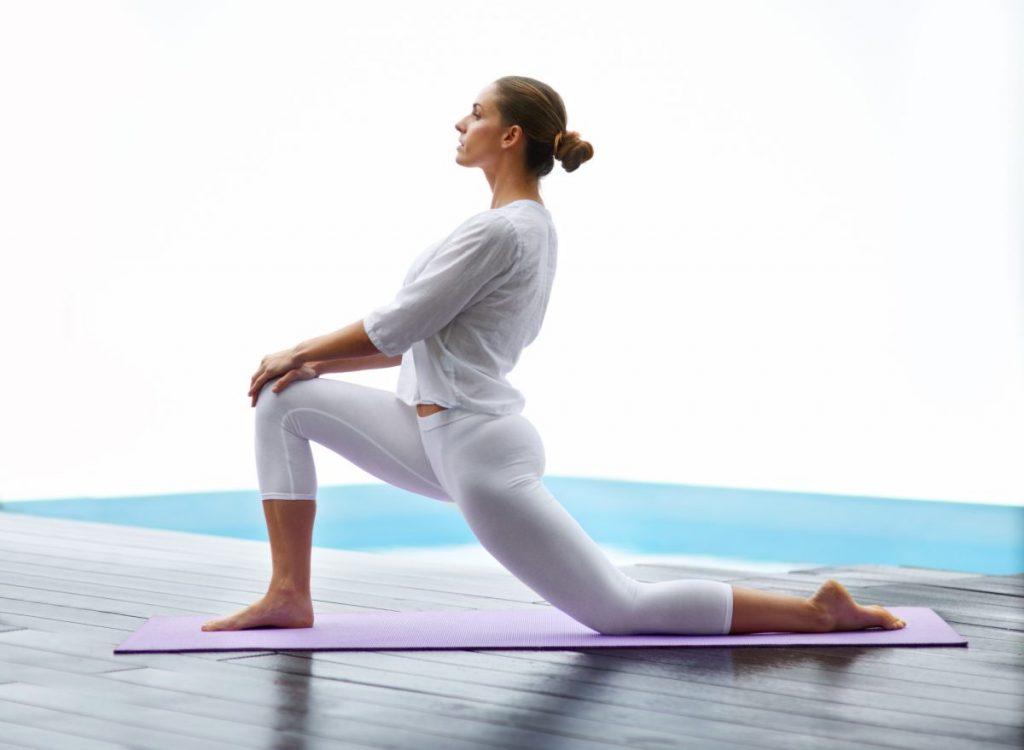 Woman doing kneeling lunge