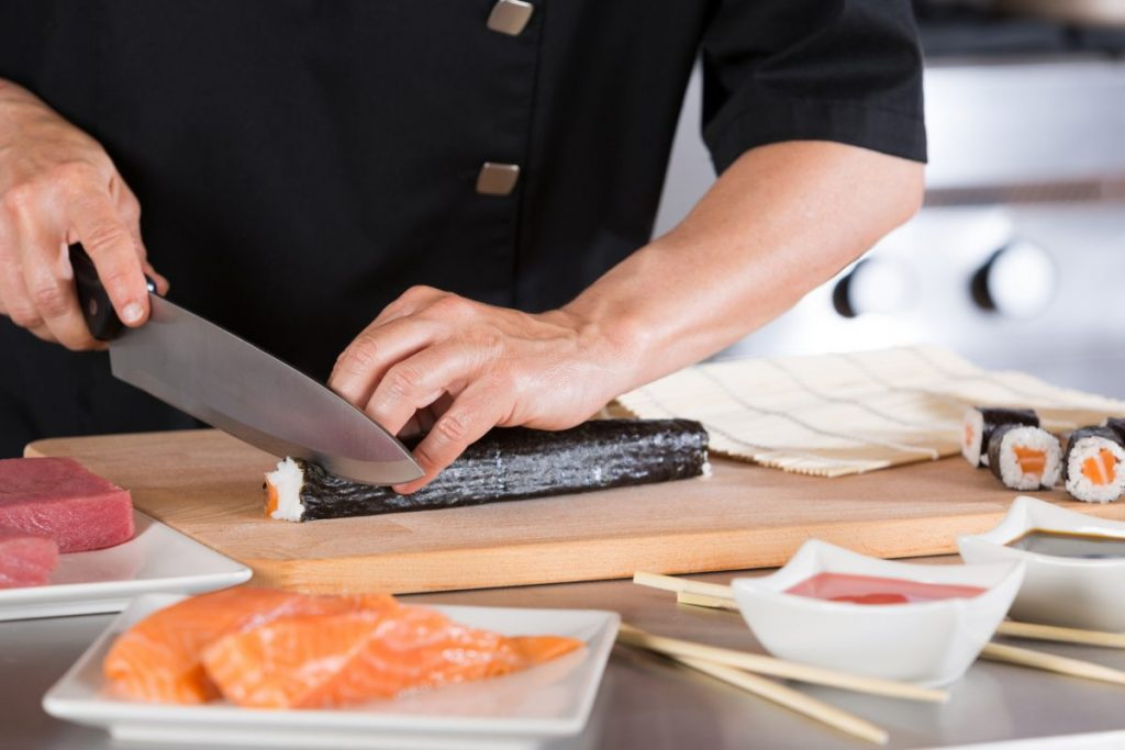 sushi knife knives Japanese chefs