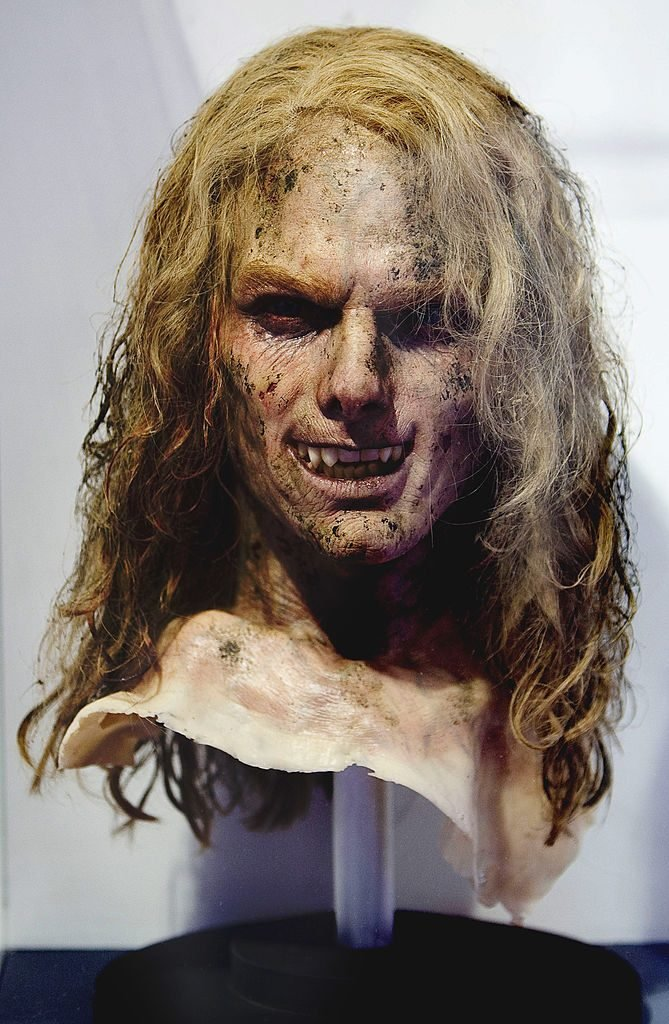 Mask used by Tom Cruise in the movie Interview with the Vampire is displayed on the exhibition 'Fantastic SyFy Objects' at the Royal Tapestry Factory on February 25, 2011 in Madrid, Spain.