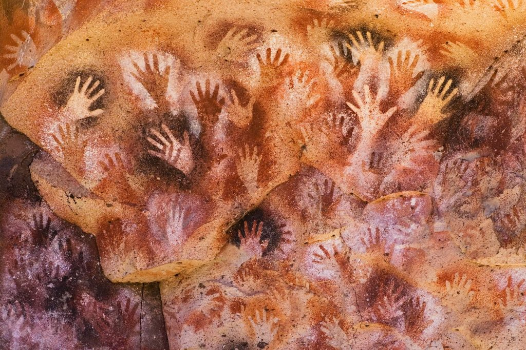 Ancient Hands Paintings in Patagonia