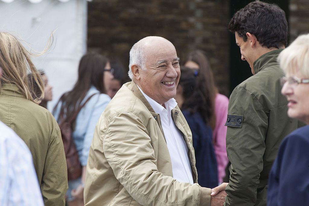 Amancio Ortega and Family Attend CSI Casa Novas Horse Jumping Competition 2013