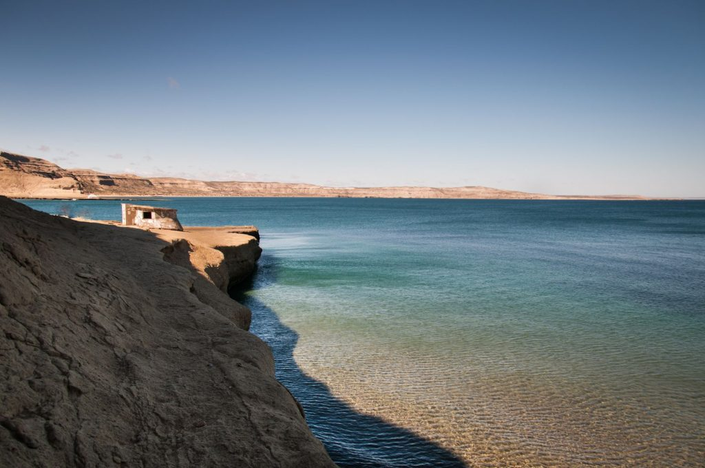 beach in puerto madryn argentina patagonia with a house