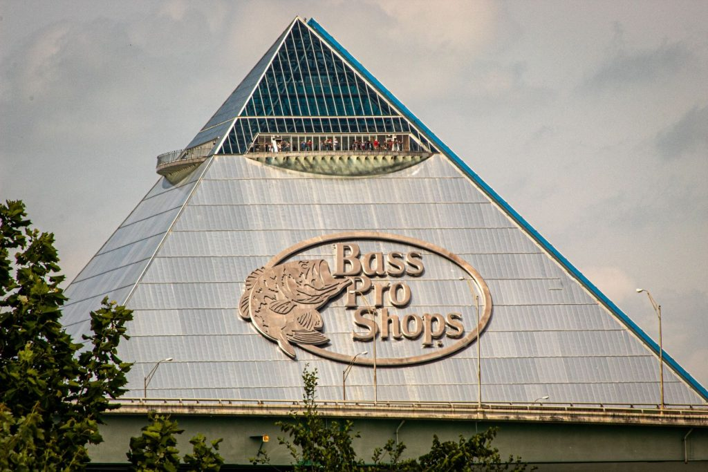 The Bass Pro Pyramid in downtown Memphis, TN.