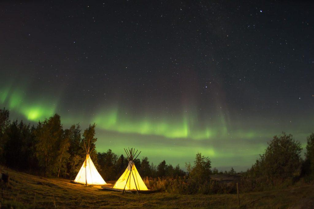 Aurora in Yellowknife Canada