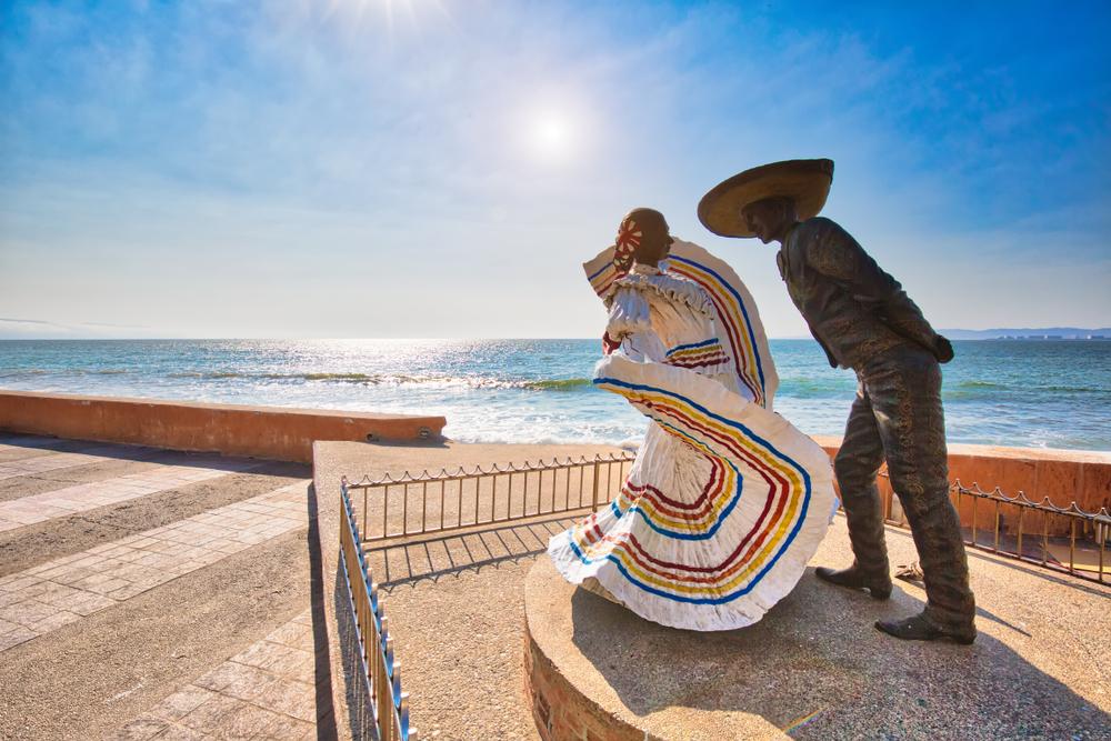 Famous Puerto Vallarta sea promenade