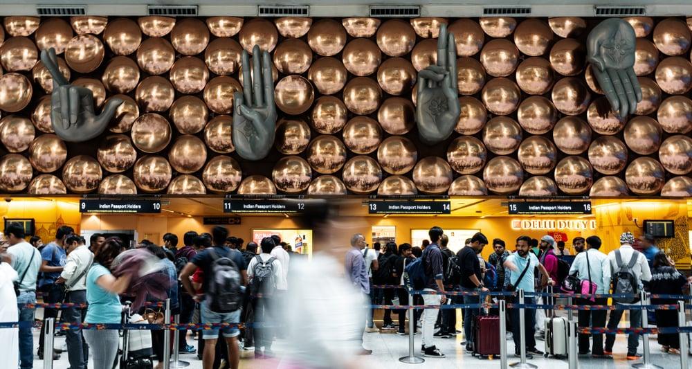 Indira Gandhi International Airport, in New Delhi, India