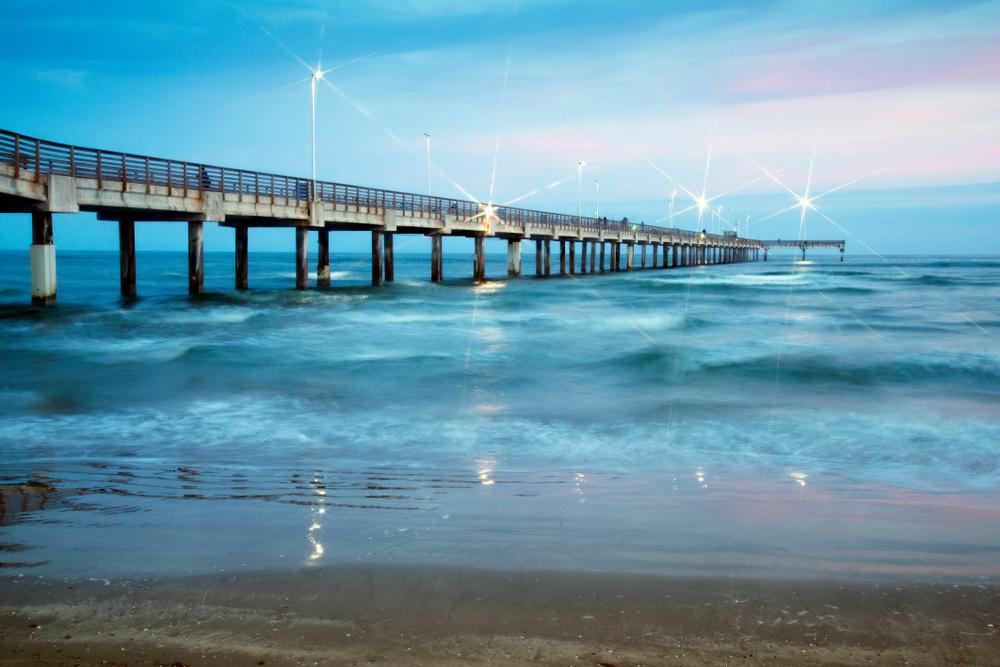 Bob Hall Pier on Padre Island near Corpus Christi,