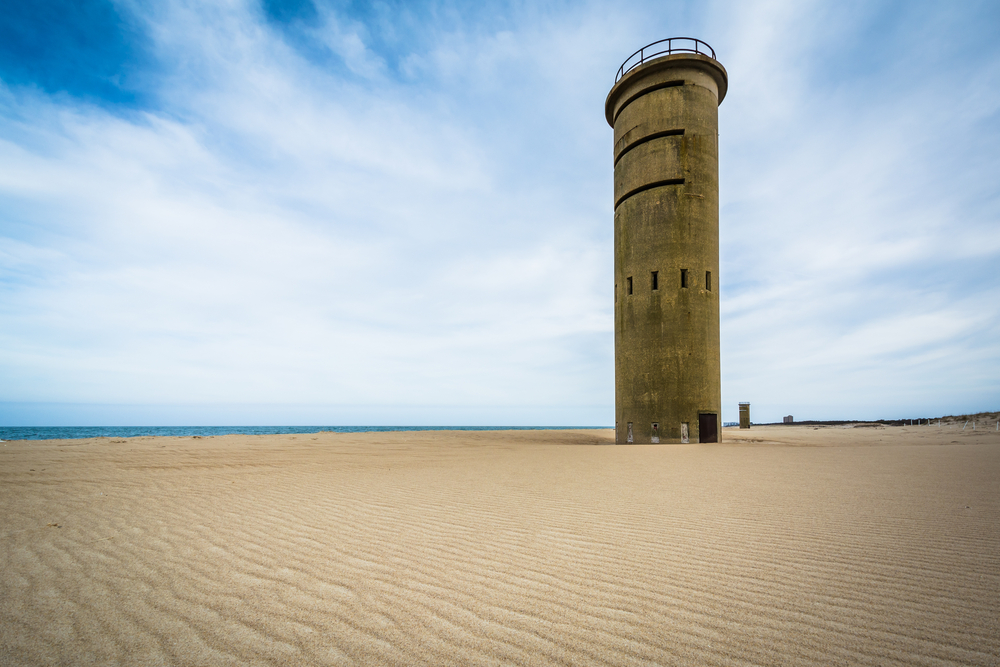 World War II Observation Tower at Cape Henlopen State Park in Rehoboth Beach, Delaware