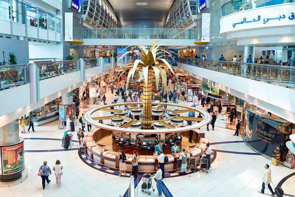 inside of Dubai International Airport