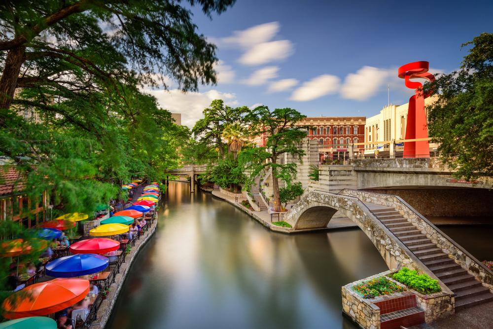 San Antonio, Texas, USA cityscape at the Riverwalk