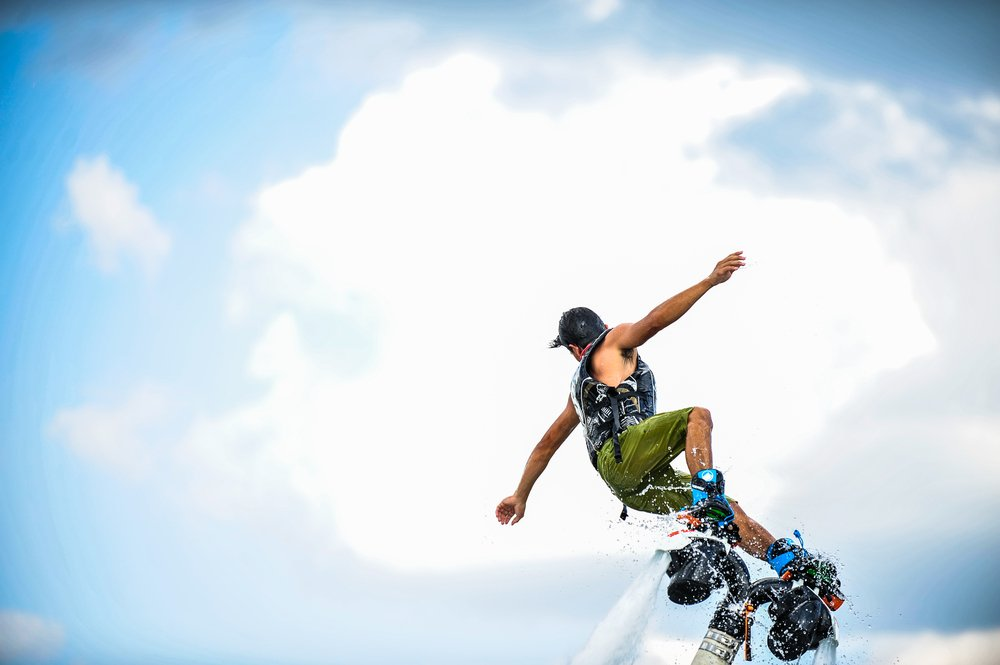 man on flyboard