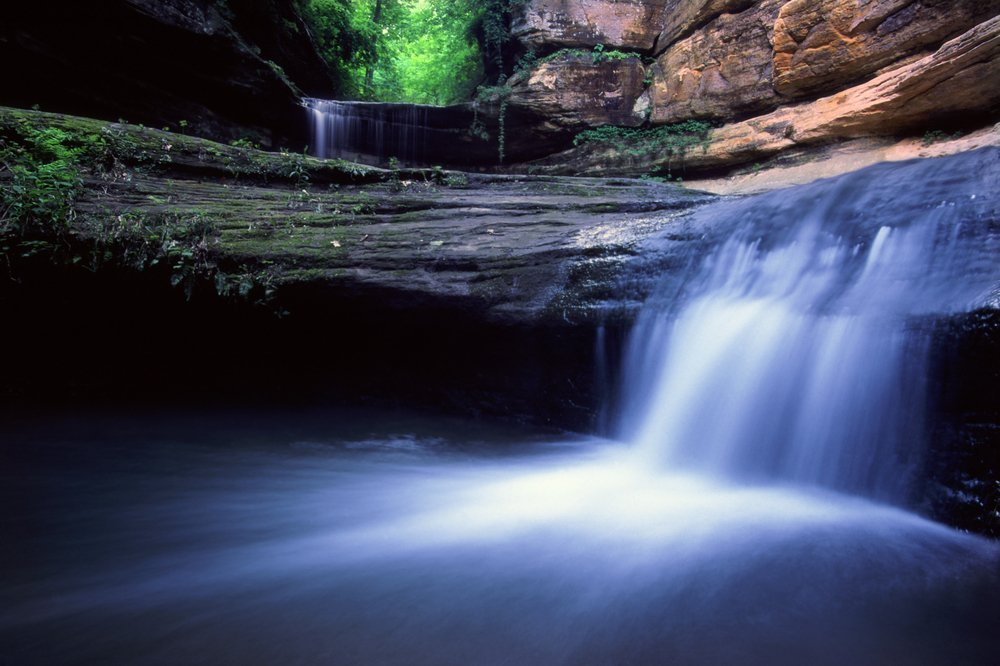Lasalle Falls at Starved Rock State Park in central Illinois
