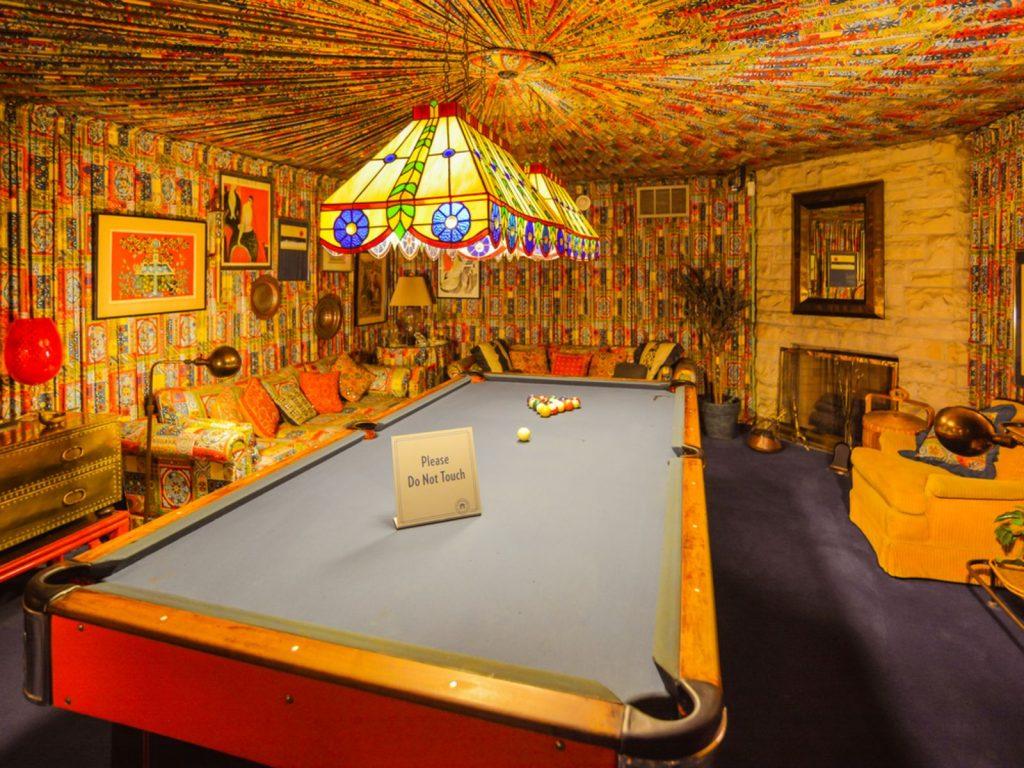 Pool room in Elvis Presley's Graceland Mansion.
