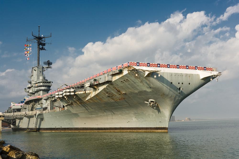 USS Lexington Aircraft Carrier in Corpus Christi
