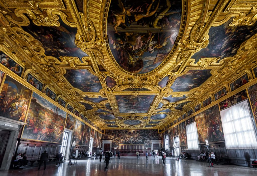 Interior of the Doge`s Palace