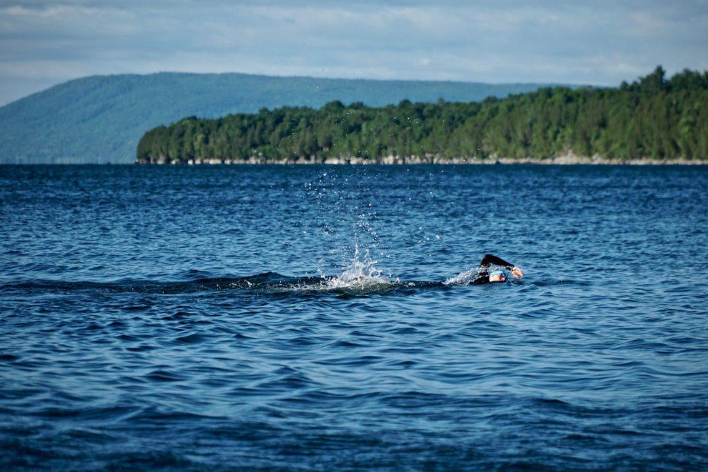 Morning Swim in Lake Champlain