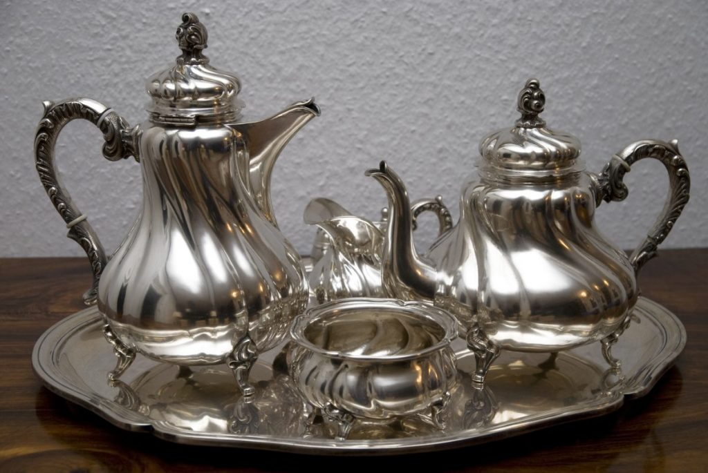 Silver polish gets your tea set looking good