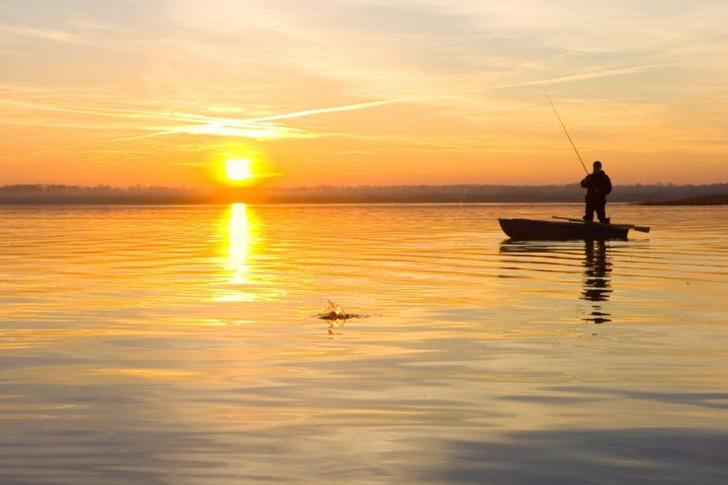 Fisherman Boat Sunset